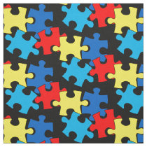 Autism Puzzle Pieces Fabric