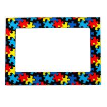 Autism Puzzle Pieces Magnetic Frame