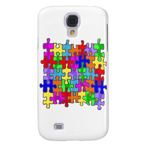 Autism Puzzle Pieces Samsung Galaxy S4 Covers