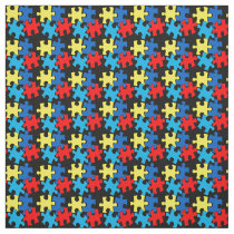 Autism Puzzle Pieces - Small Fabric