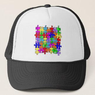 Autism Puzzle Pieces Trucker Hat