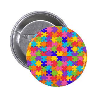 autism puzzle pinback button
