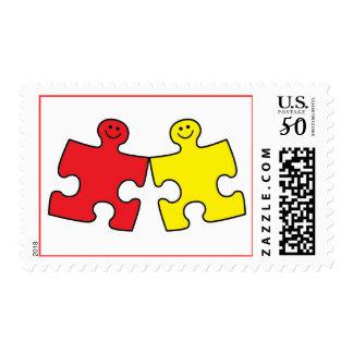 Autism Puzzle Postage