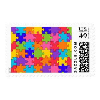 autism puzzle postage postal stamps