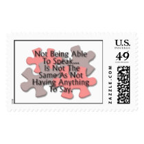 """Autism Puzzle"" Postage Stamps"