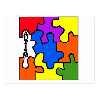 Autism Puzzle Postcard