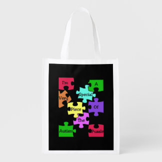 Autism Puzzle Reusable Bag Grocery Bags
