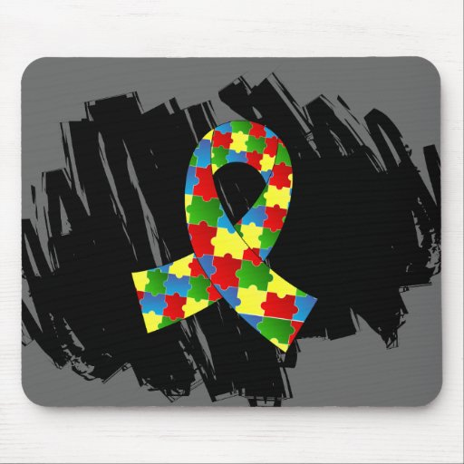 Autism Puzzle Ribbon 1.1 With Scribble Mousepad