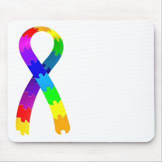 Autism Puzzle Ribbon Mouse Pad