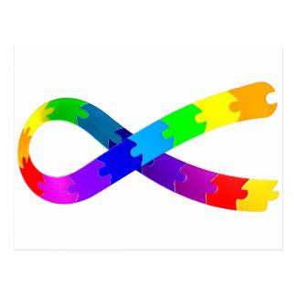 Autism Puzzle Ribbon Postcard