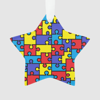 Autism Puzzle Star Ornament