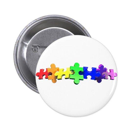 Autism Puzzle Strip Button