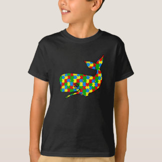 Autism Puzzle Whate T-Shirt