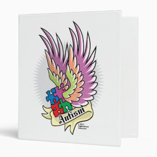 Autism Puzzle Wings Binder