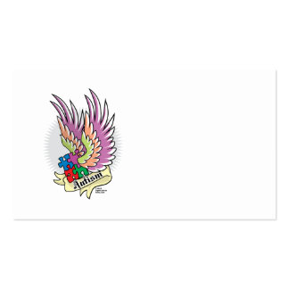 Autism Puzzle Wings Business Cards