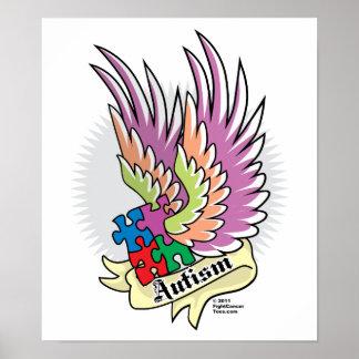 Autism Puzzle Wings Print