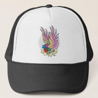 Autism Puzzle Wings Trucker Hat