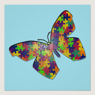 Autism Puzzlefly Poster