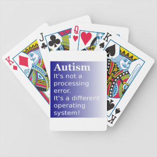 Autism Quote Bicycle Playing Cards