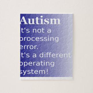 Autism Quote Jigsaw Puzzle