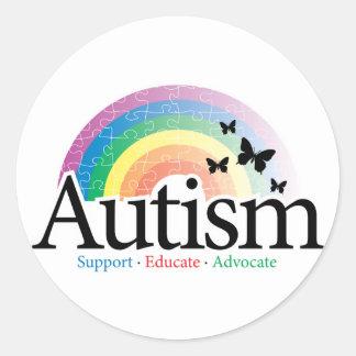 Autism Rainbow Classic Round Sticker
