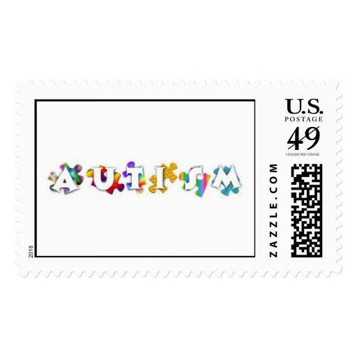 Autism Rainbow Stamps