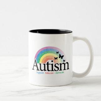 Autism Rainbow Two-Tone Coffee Mug