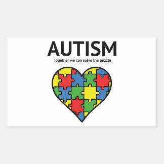 Autism Rectangular Sticker