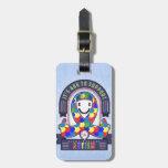 Autism - Retro Charity Ribbon - Luggage Tag