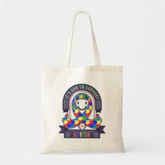Autism - Retro Charity Ribbon - Tote Bag