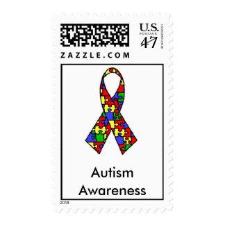 Autism Ribbon, Autism Awareness Postage