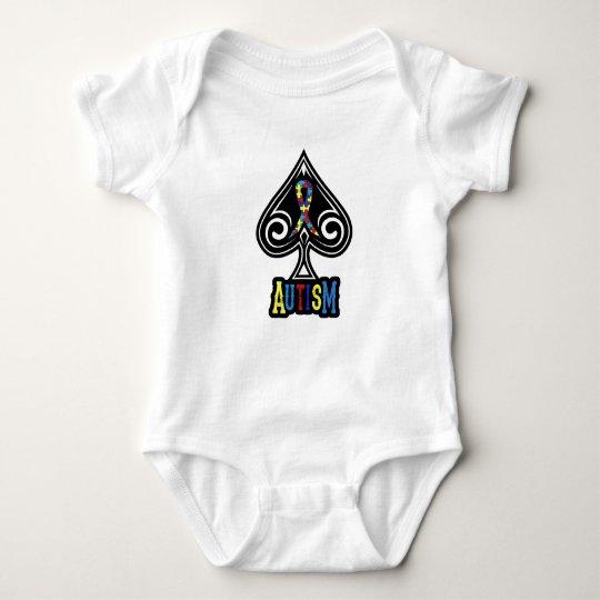 Autism Ribbon - Baby Creeper - Spades Edition