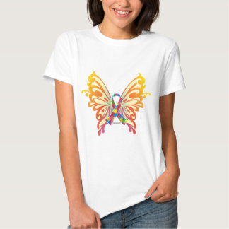 Autism Ribbon Butterfly Tee Shirt