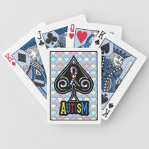 Autism Ribbon - Cards - Spades Edition