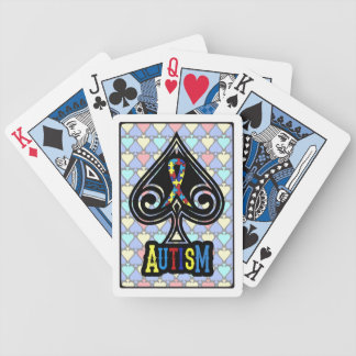 Autism Ribbon - Cards - Spades Edition Bicycle Playing Cards