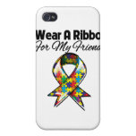 Autism Ribbon For My Friend iPhone 4/4S Cases