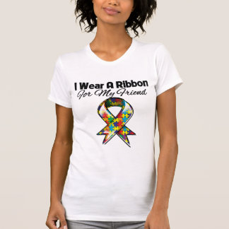 Autism Ribbon For My Friend Shirt