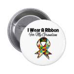 Autism Ribbon For My Grandson Button