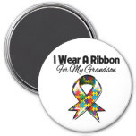 Autism Ribbon For My Grandson Refrigerator Magnets