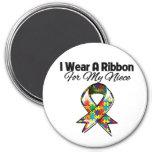 Autism Ribbon For My Niece Fridge Magnet