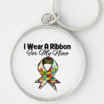 Autism Ribbon For My Niece Key Chain