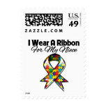Autism Ribbon For My Niece Stamps