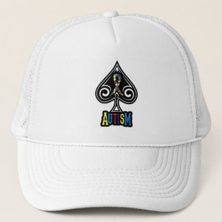 Autism Ribbon - Hat - Spades Edition
