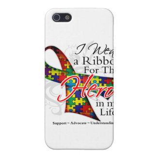 Autism Ribbon Hero in My Life Cover For iPhone 5