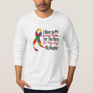 Autism Ribbon Hero in My Life My Daughter Tee Shirts