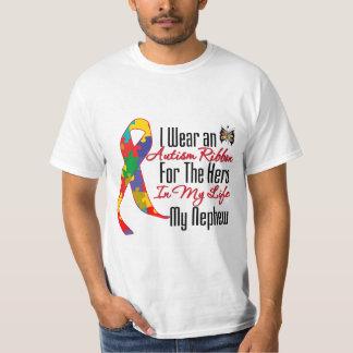 Autism Ribbon Hero in My Life My Nephew T-shirt