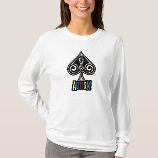 Autism Ribbon - Ladies Long Sleeve - Spades T-Shirt