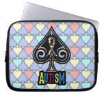 Autism Ribbon - Laptop Bag - Spades Edition Computer Sleeve