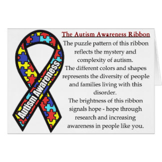 Autism Ribbon meaning Card