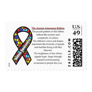 Autism Ribbon meaning Postage
